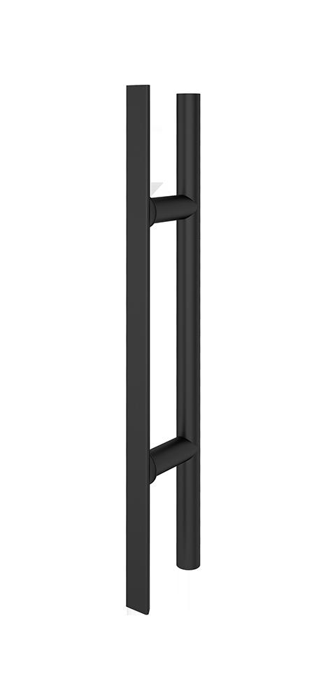 Griffstange- / Griffleiste rund Schwarz 400 mm