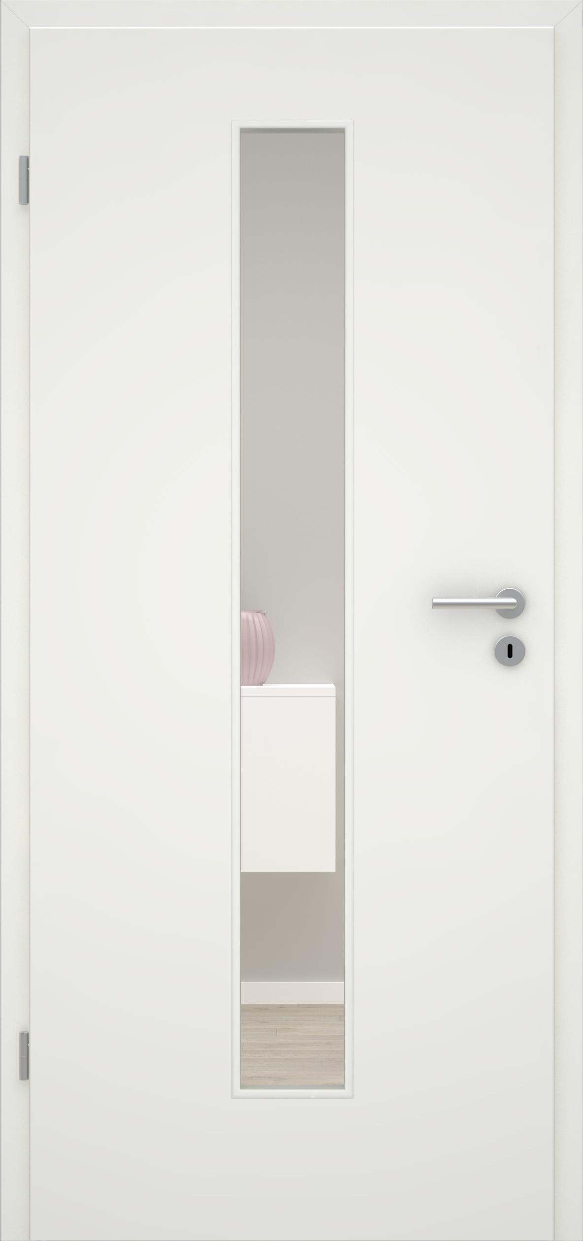 Glatte Tür Weißlack 1.0 LA 008 M