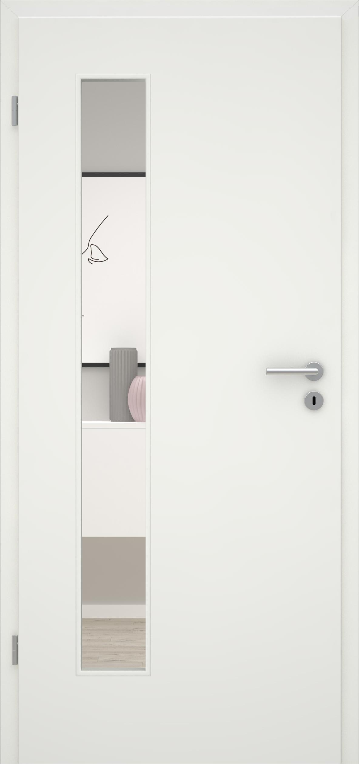 Glatte Tür Weißlack 1.0 LA 008 B