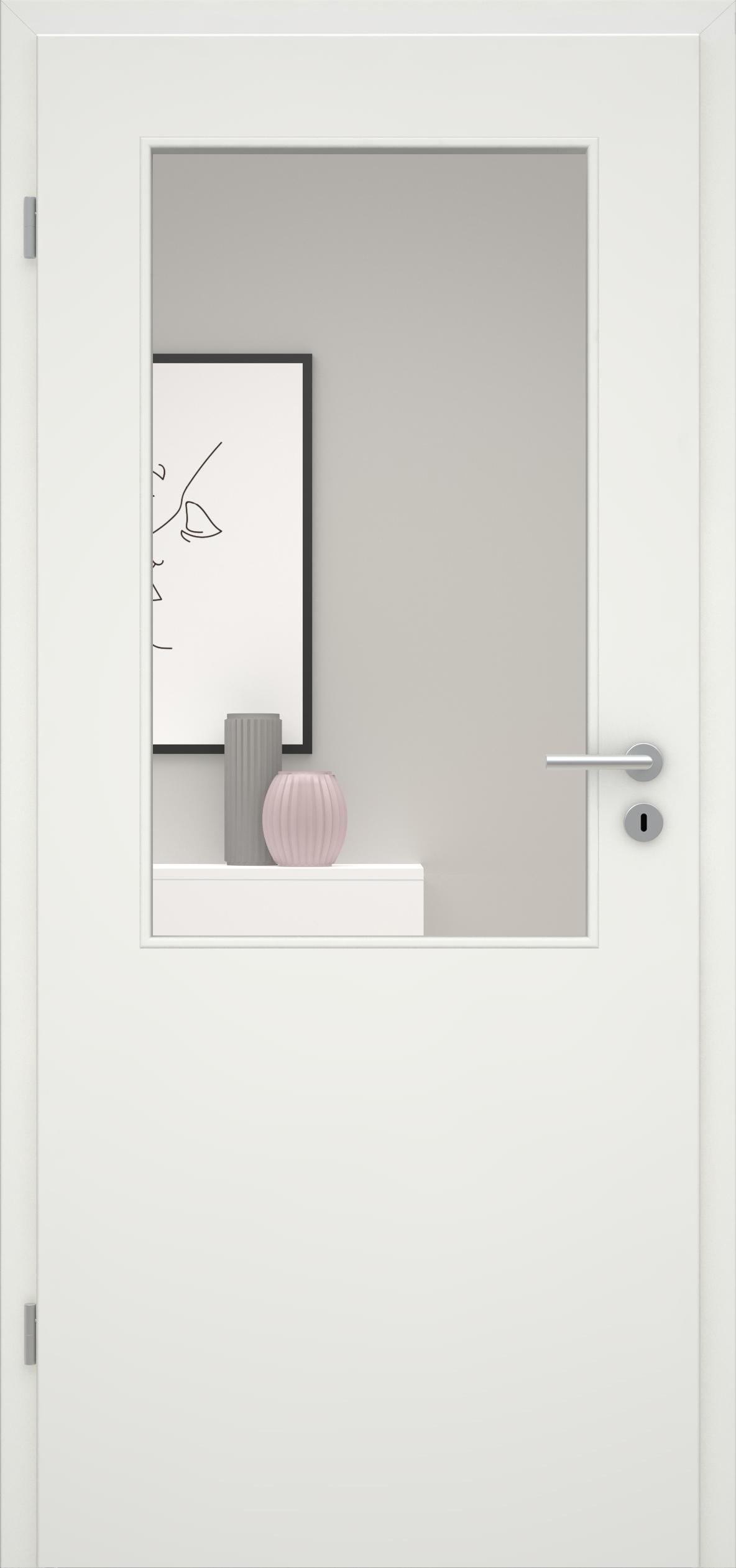 Glatte Tür Weißlack 1.0 LA 002