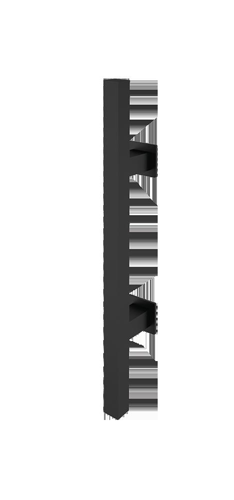 Griffstange eckig Schwarz 400 mm