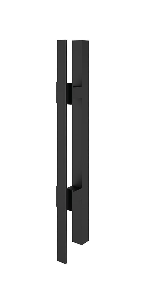Griffstange- / Griffleiste eckig Schwarz 400 mm