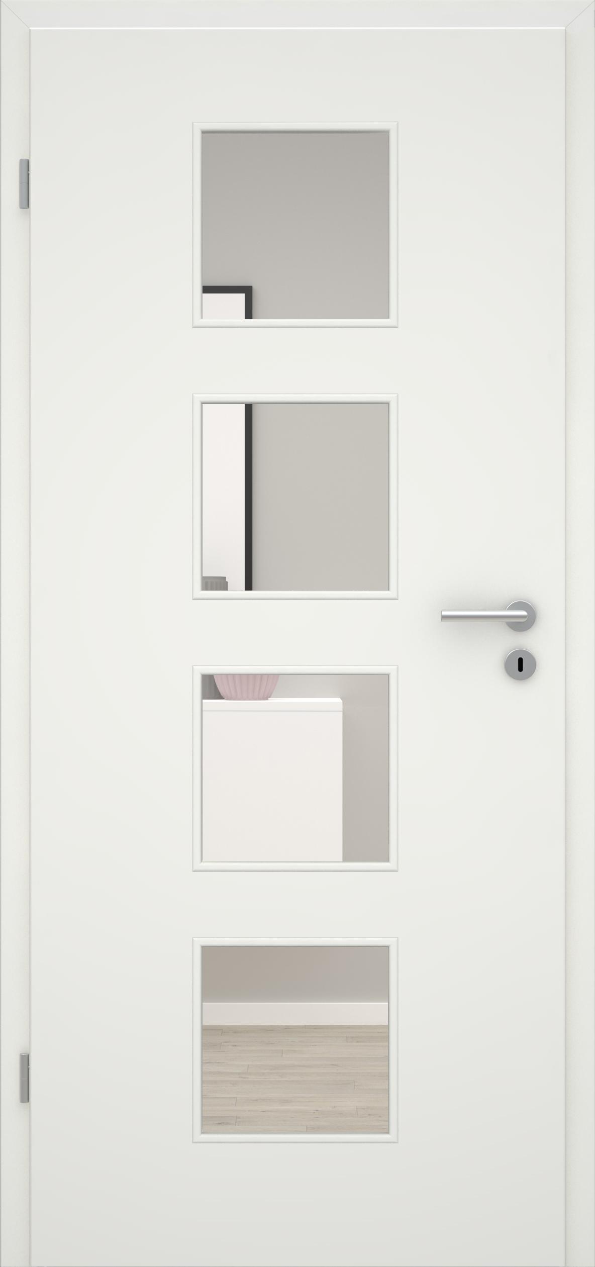 Glatte Tür Weißlack 1.0 LA 004