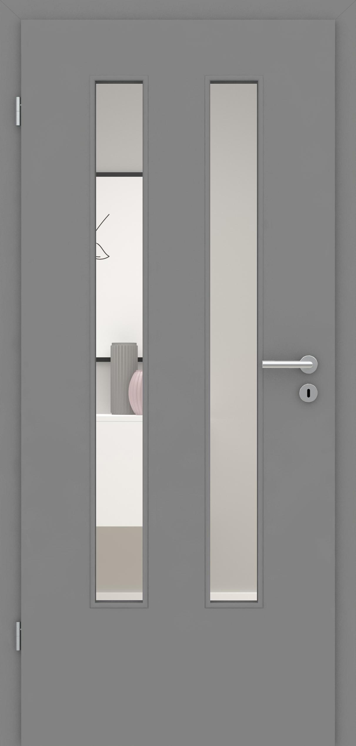 Glatte Tür Mineralgrau LA 006