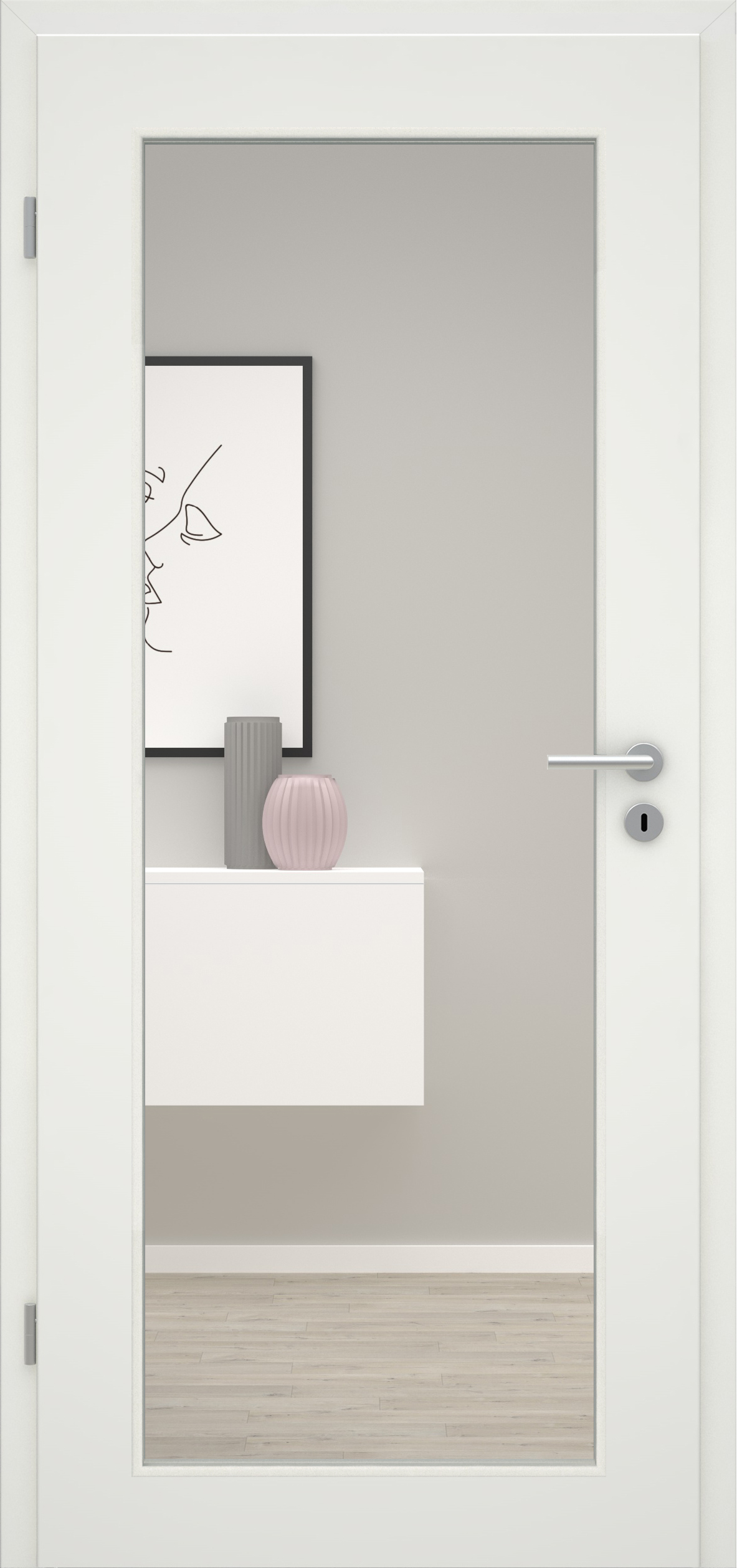Glatte Tür Weißlack 1.0  LA XL