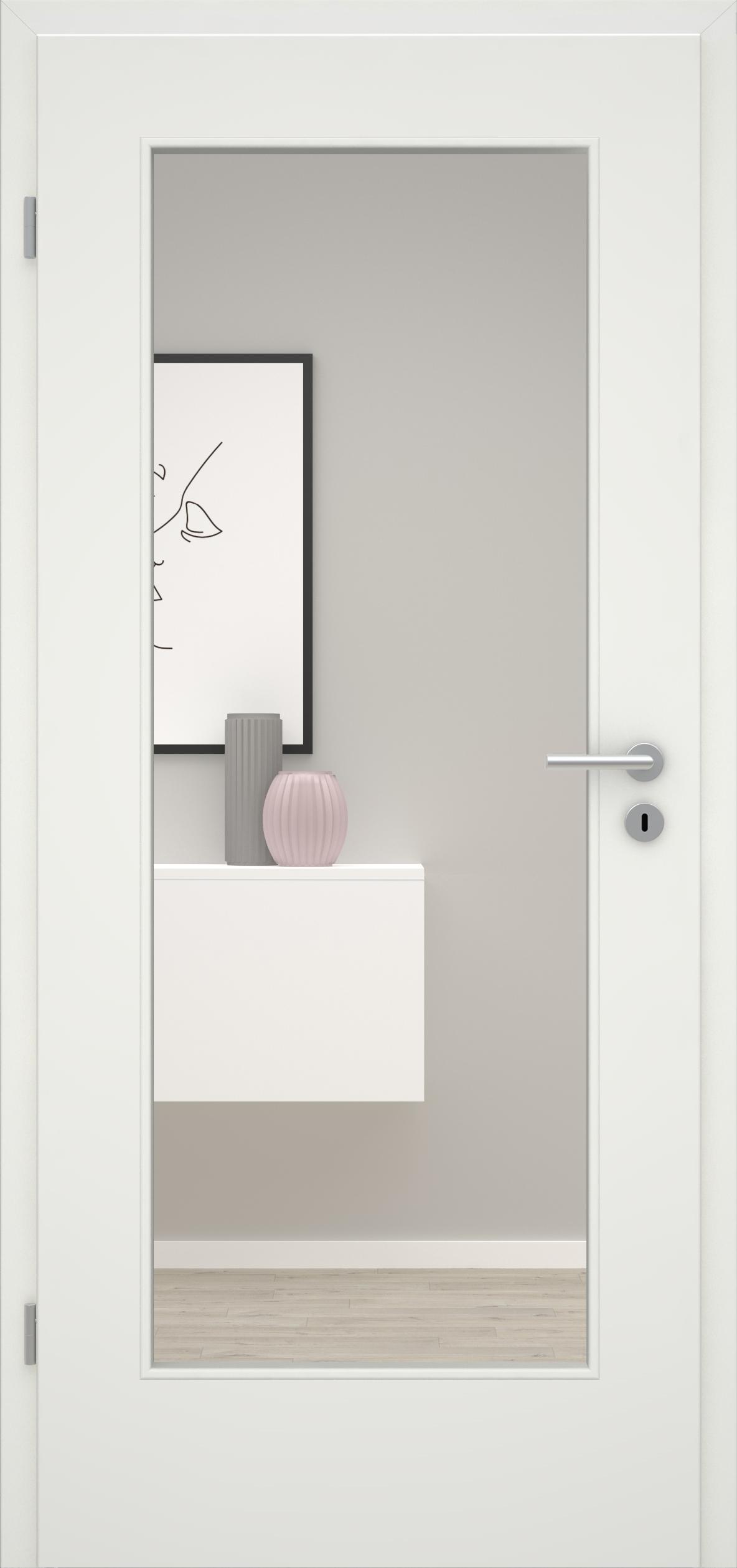 Glatte Tür Weißlack 1.0 LA 001