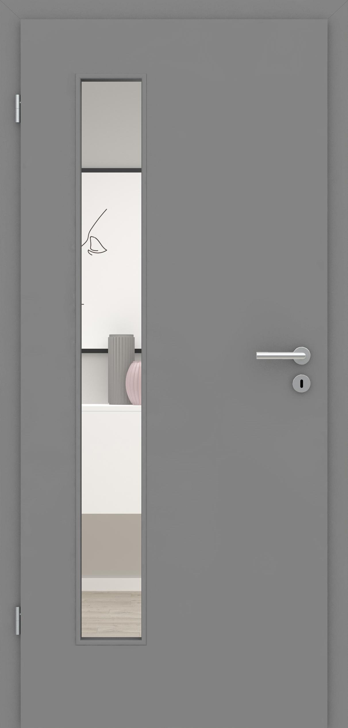 Glatte Tür Mineralgrau LA 008 B