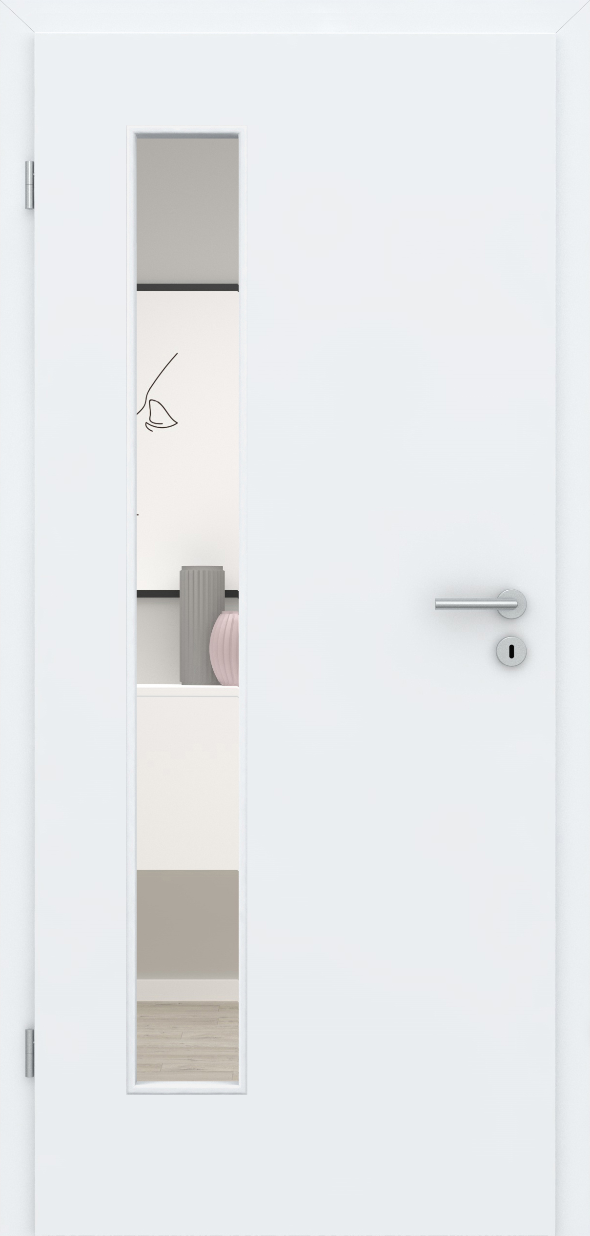 Glatte Tür Weißlack 3.0 LA 008 B