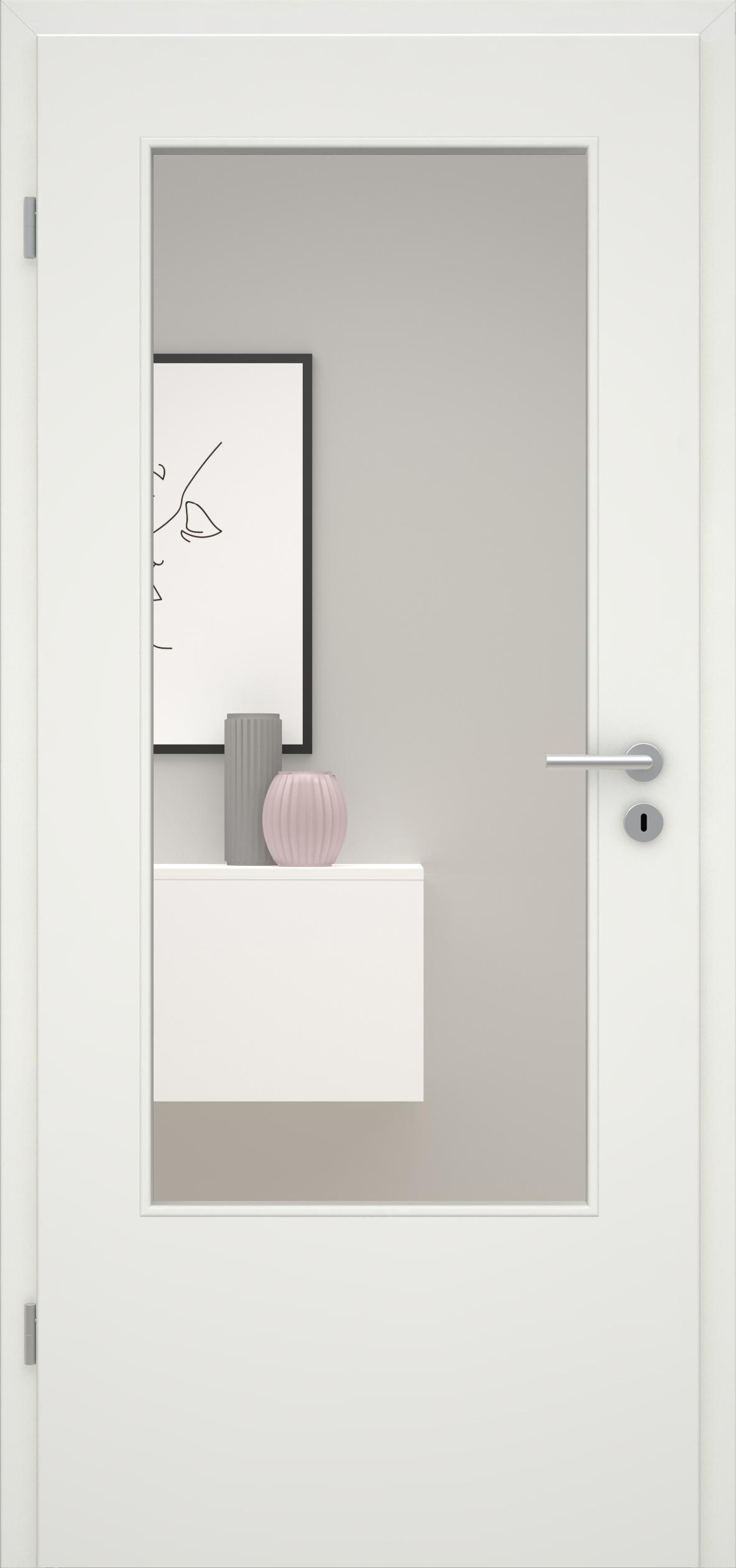 Glatte Tür Weißlack 1.0 LA DIN
